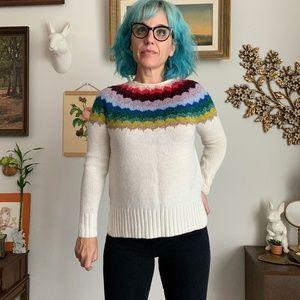 Ahh-Mazingly Soft AEO XS Rainbow Yoke Sweater